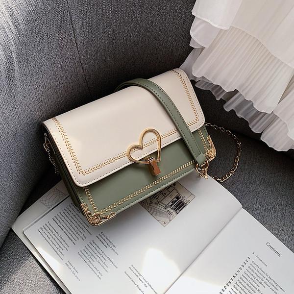 2019 Fashion bag Clutch bag lady Two-tone shoulder bags lady bag chain bags Wide shoulder bags SN/7