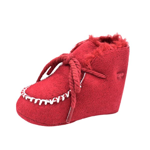 Trendy Toddler Baby Boy Girl Shoes Snow Boots Cotton Winter Warm Baby Shoes Lace-Up Anti-slip Design Hot Sale Scarpe Neonata@27