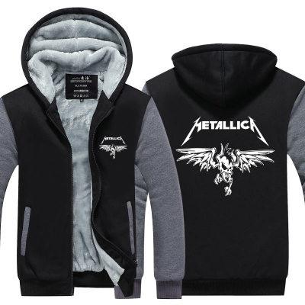 felpa invernale Metallica rock band Uomo donna Addensare autunno Felpe con cappuccio felpe con cappuccio Felpa con cappuccio in pile con cappuccio streetwear