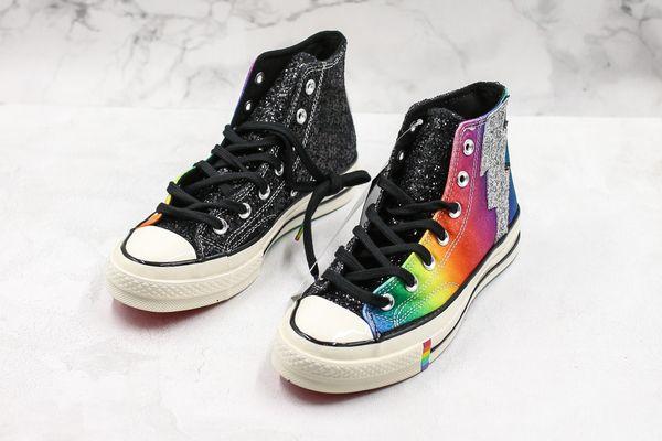 Chuck 70 s oi orgulho rainbow stonewall motins 1970 s sapatos de skate de lona clássico 1970 sapatos de grife de skate estrela sapatilhas casuais tamanho 44