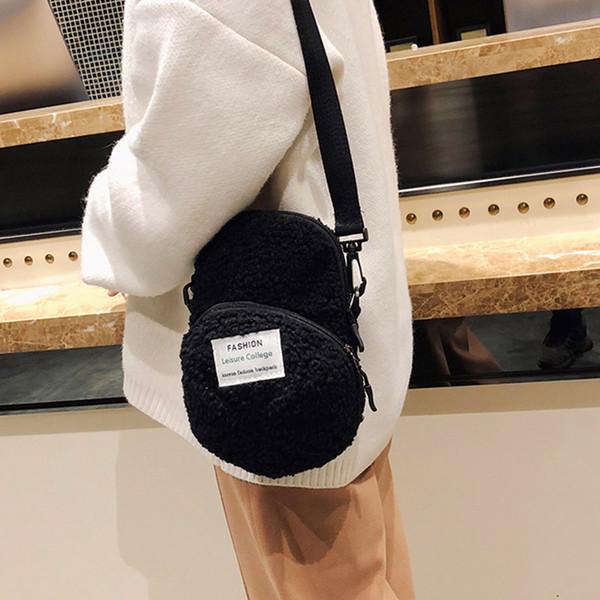 2019 Frauen Mädchen Elegant New Style Fashion Concise Nette Personalisierte Hutform Handtasche Einfache Plüsch Schulter Cross body Pink Bag