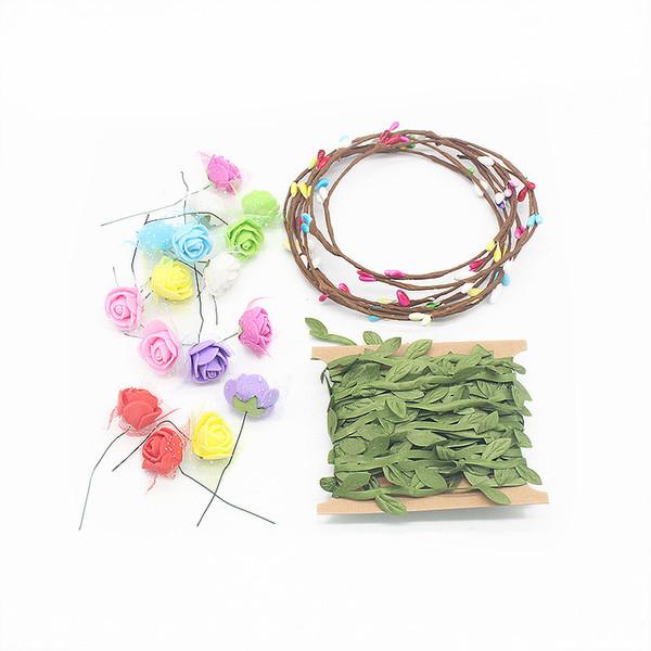 Bubble 1PC pacchetto Handmade Color / Corona emulazione Schiuma Garland capretti DIY Mestieri Accessori Toy Materiali Borse accessori decorativi