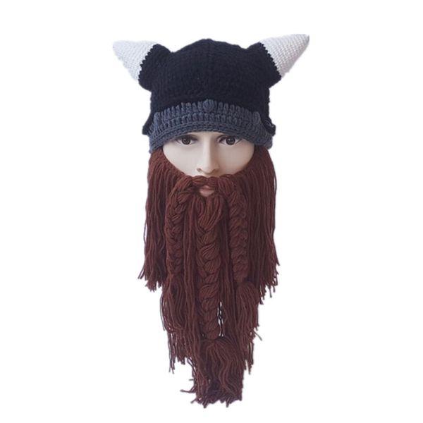 Новая осень и зима косплей рога шляпа большая борода смешные творческие мужчины и женщины бык шерсть шляпа внешней торговли хэллоуин аниме