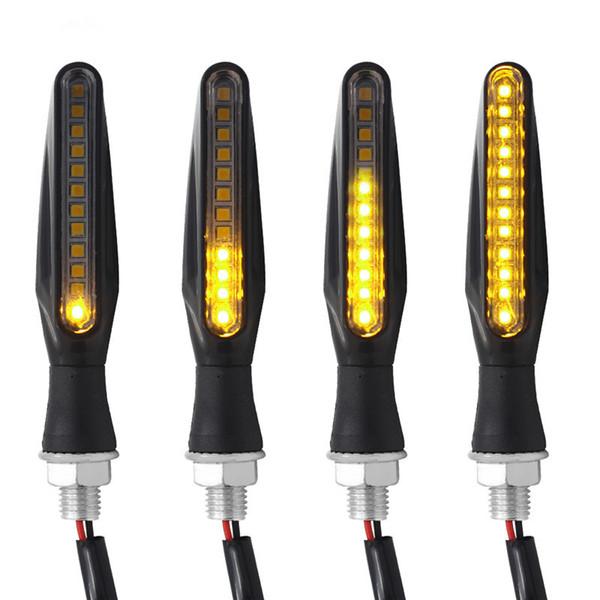 top popular 12 LED Motorcycle Turn Signal Lights Flowing Flashing Motorbike Indicator Blinker Moto Tail Lights Signal Lamp for Harley 2020