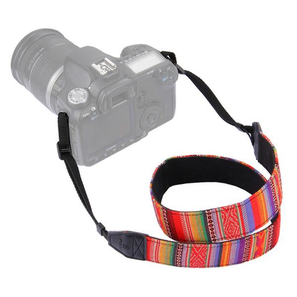 Colorful Vintage Style Canvas Camera Shoulder Neck Strap Belt for NikonRetro Ethnic Style SLR Camera Shoulder Belt Fashion Camera Photo Belt