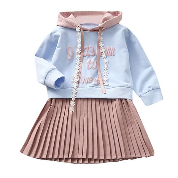 Winter Langarm Mädchen Kleidung Mädchen Kleid Kleinkind Baby Kinder Mädchen Brief Gedruckt Mit Kapuze Prinzessin Kleid Kleidung Kleid S05 # F