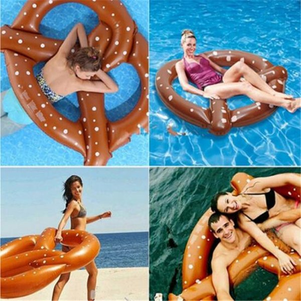 140cm Pretzel Inflatable Swimming Pool Float Donuts Toy For Kids Adults Water Toys Fun Summer Outdoor Sport Play Summr