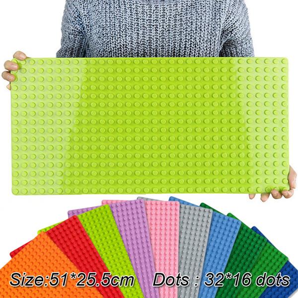 Lecgos grande taille 51 * 25.5 cm Blocs plaque de base bricolage avec plaque de base de briques 32 * 16 compatible avec Lecgos jouets pour enfants jouets SS153