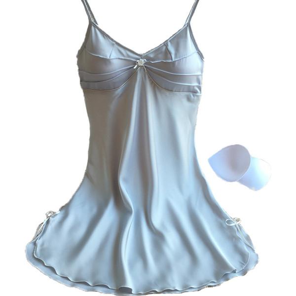 Новый дизайн Sexy lLace женская пижама мини-платье атлас шелк мягкие Ночные рубашки для женщин Леди подарки