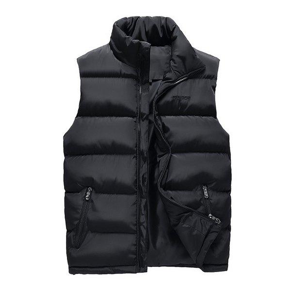 Black Men Vest 2018 Winter Male Waistcoat Slim Fit Sleeveless Jacket Casual Vest Man Plus Size L-4XL Drop Shipping