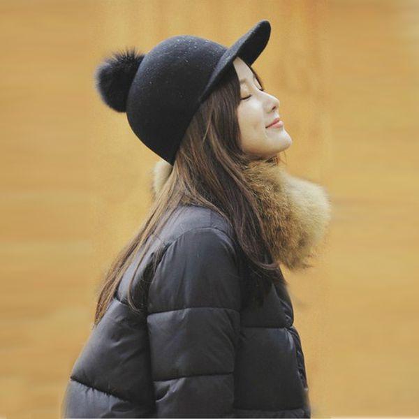 Venta caliente M marca Lana de las mujeres Equitación Equitación Casco Casquillo del casquillo para las mujeres Llegada Vintage Invierno Sombrero Fedora Gorra femenina
