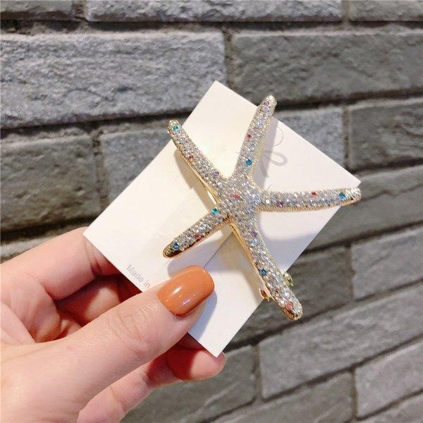 estrella de mar de diamantes de color