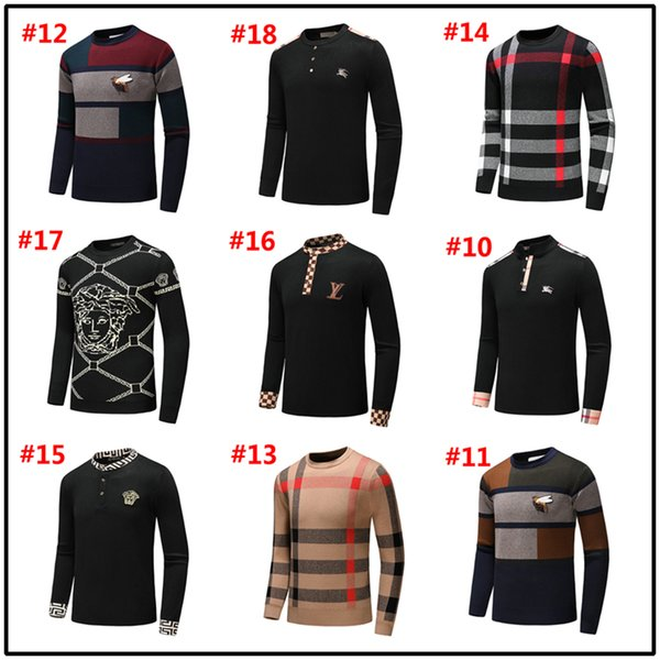 18MODEL Winter fashion new men's sweater, casual fashion high-quality high-neck long-sleeved knit sweater, casual minimalist design style me