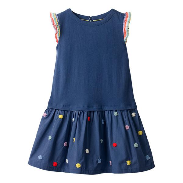 2019 summer new girls dress European and American style cotton short-sleeved children's dress cartoon round neck princess dress