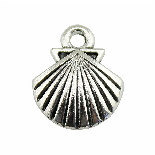 100pcs Antique Silver Shell Charms Petit Shell Charms Shell Charm Fabrication de bijoux 14x17mm