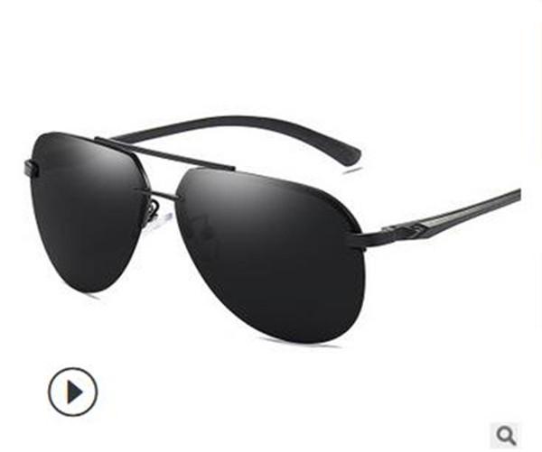 Nouvelle mode polarisée lunettes de soleil hommes et femmes rue snap lunettes de soleil sans cadre 143 verres en magnésium en aluminium