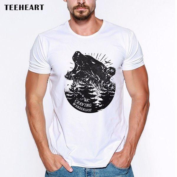 Craving Wanderlust Bear Roar Woods Hipster Funny Joke Men T Shirt Tee