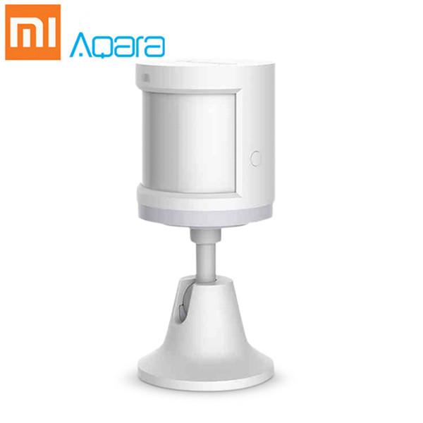 Original Xiaomi Home Aqara ZigBee Body Body Human Smart House Holder 7 m Distancia de detección Sensor de movimiento inalámbrico Mihome App