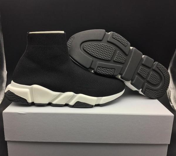 Novo Design de Luxo Meia Sapato Trainer Velocidade Tênis Respirável Sapatilhas Trainer Velocidade Meia Corredores Preto homens e mulheres Sapatos de Esportes 36-45