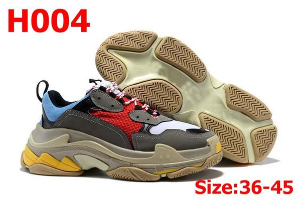 Designers Sports Casual Shoe 17FW Triple S Designer Low Old Dad Sneaker Combination Soles Mens Womens Runner Shoes Top Quality 36-45