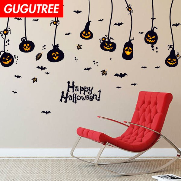Decorate Home Hallowmas Halloween cartoon art wall sticker decoration Decals mural painting Removable Decor Wallpaper G-2116