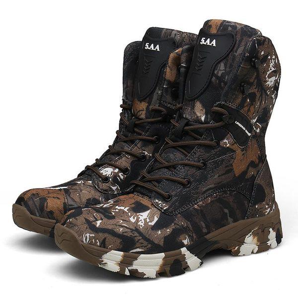 printemps bottes de training été chaussures de sécurité montantes en toile chaussures de sécurité pour hommes forces spéciales respirant noir botte de combat ultra-légère