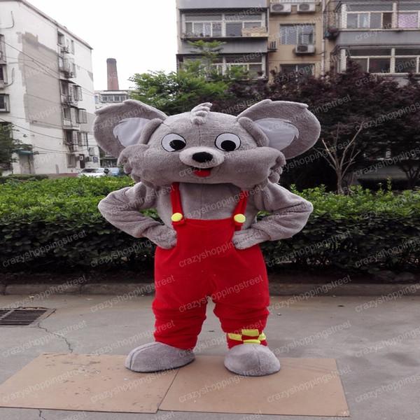 Dia das bruxas koala traje da mascote dos desenhos animados vermelho pant coala urso aniaml anime personagem do natal do natal festa de carnaval trajes extravagantes adulto outfit