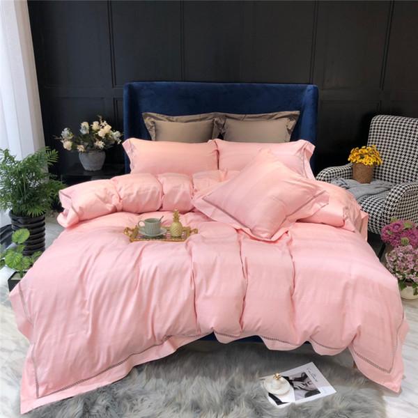 100s Egyptian Cotton Bedding set Super King Queen size Bed set Luxury Golden Embroidery Bedding sets Bed sheet set Duvet cover