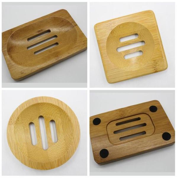 Природные держатели из бамбука Мыл Деревянной мыльница Деревянной Мыльницы держателя для хранения мыла стойки Plate Box Контейнер для ванны Душ Ванной LXL457A