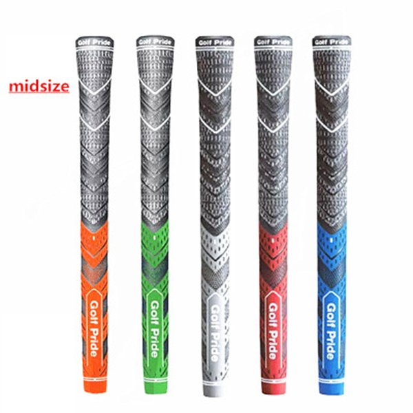 best selling Golf irons Grip midsize New Multicompound Golf club Grips Carbon Yarn Golf Grip 5 Colors ZZA1162