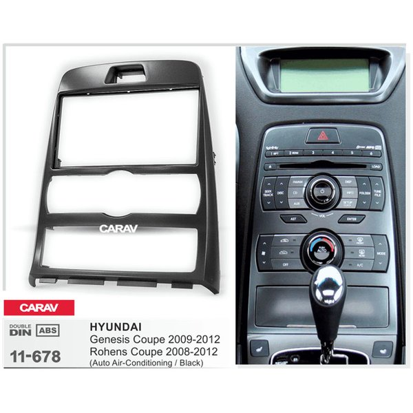 Stereo Carav 11-678 Car Radio Fascia Kit moldura do painel Placa para Genesis Coupe, Rohens Coup de instalação Car Radio Fascia