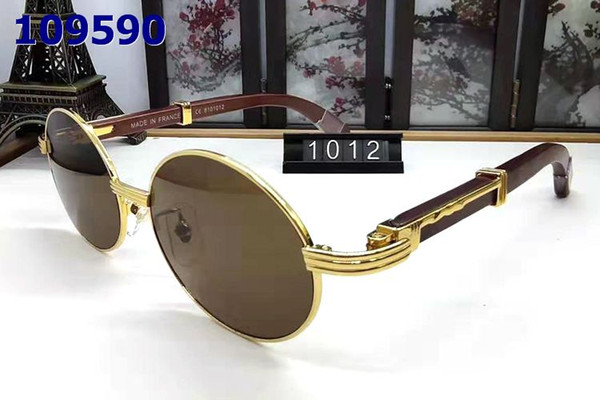 2019 new Fashion rimless buffalo horn glasses sunglasses winter styles mens designer sunglasses for men women clear lens with original box
