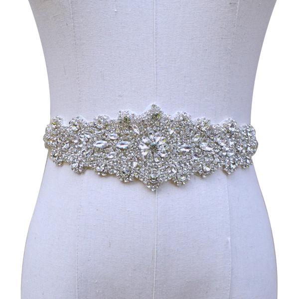 Handgemachte wulstige Kristall Hochzeit Braut Sash New 2019 Luxurious Satin Hochzeit Gürtel Hot Selling Hochzeit Schärpen
