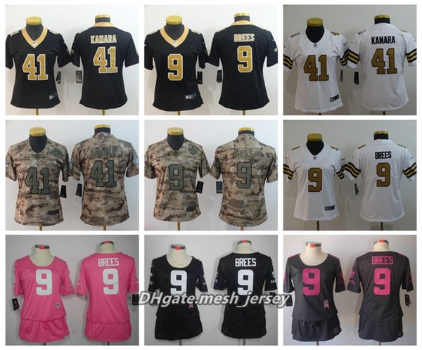 new product 89363 6ddb1 2019 Women New Orleans Saints American Football Jersey 9 Drew Brees 41  Alvin Kamara80 Jimmy Graham Color Rush Stitching Jerseys From Yengoh,  $21.32 | ...