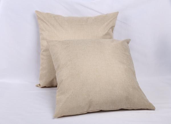 Personalizado 40 * 40 cm em branco de linho travesseiro para impressão de transferência de calor cor sólida sofá lance fronha em branco sublimação fronhas capas