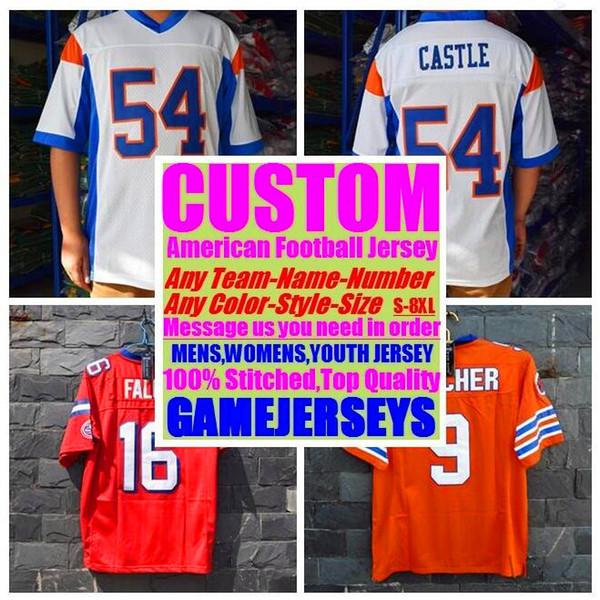 Camisetas personalizadas de fútbol americano Carolina Chicago College Auténtico Retro Rugby Fútbol Béisbol Baloncesto Baloncesto Jersey 6xl 7xl 8xl azul
