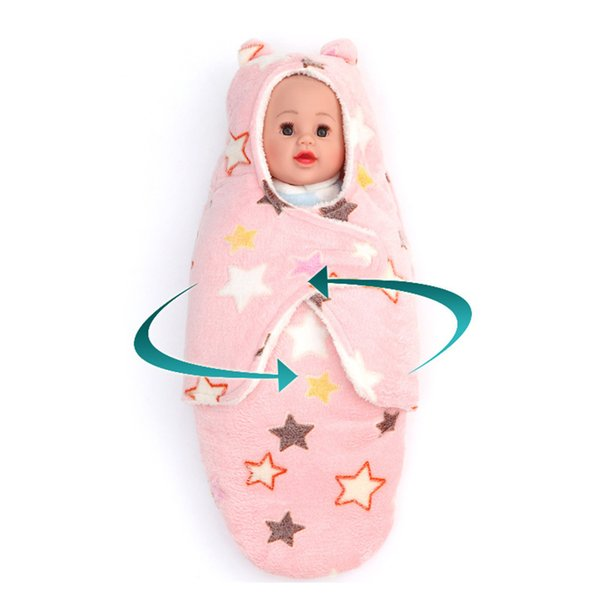 Newborn Baby Swaddle Blanket Winter Adjustable Flannel Sleeping Bags Baby Sleepsacks Sleeper For Sleeping Outfits 0-8 Month
