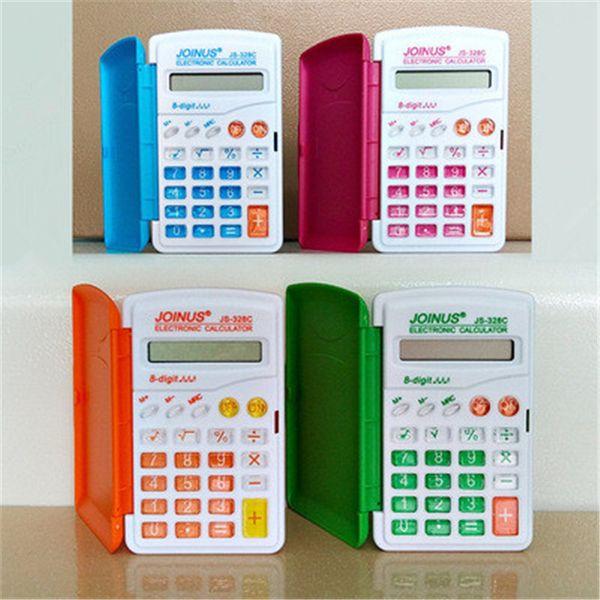 328 color calculator Mini portable flip computer primary school student calculator student stationery