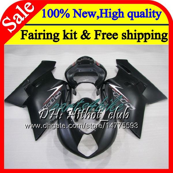 Body For MV Agusta F4 05 06 Matte black R312 750S 1000 R 750 1000CC 06 13HT3 1000R 312 1078 1+1 MA MV F4 2005 2006 05 06 Fairing Bodywork