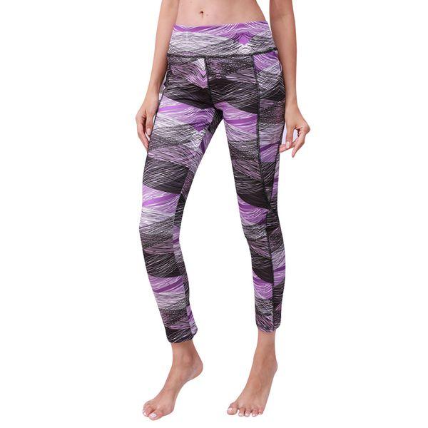 lady High Waist Pocket Printed Sports Gym Yoga Running Leggings Pants Yoga Pants For Women With Pocket 2019 #40