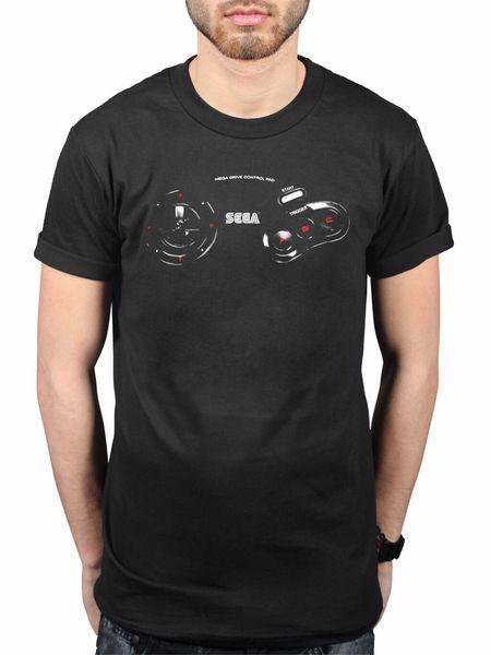 Official Sega Mega Drive Controller Retro T-Shirt Classic Game Genesis Men Women Unisex Fashion tshirt Free Shipping black