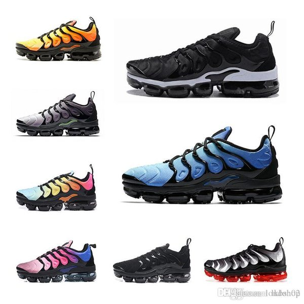 Compre Nike Air Max Off White Flyknit Utility Vapormax TN Plus 97 Plus Men Running Shoes Negro Shock Azul Marino Luz Orewood Brown Layer Cake TN Mujer