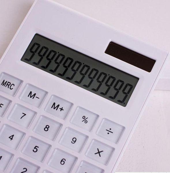 Mini numérique Calculatrice 2017 Hot vente Creative Slim énergie solaire portable cristal clavier double alimentation Reken machine cadeau étudiant