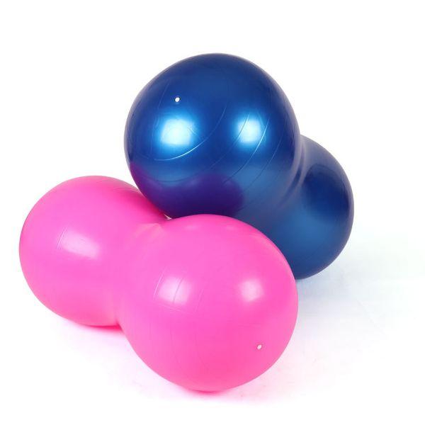 PVC Peanut Shape Explosion Proof Fitness Yoga Exercise Ball Health Sports Gym Durable Peanut Ball Pilates Ball