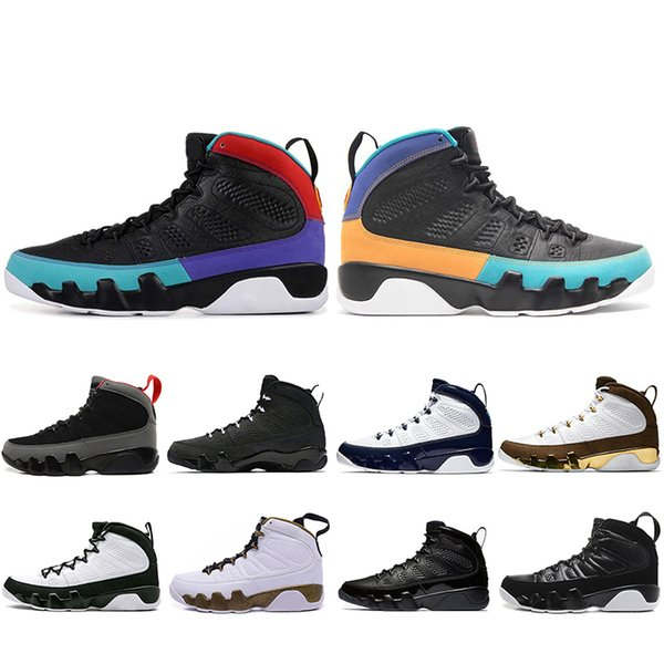 Nouveau 2019 Dream It Do It Unc 9 Ix 9s Chaussures De Basket-ball Pour Hommes La Oreo Vadrouille Melo Elevé Space Jam Sports Sneakers 7-13