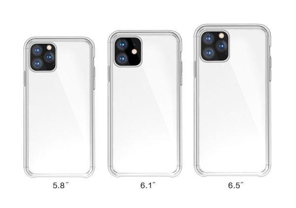 Caso de telefone claro para iphone 11 hd transparente à prova de choque capa para iphone 11 pro pro max 2019 case