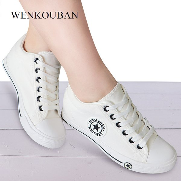 Summer Wedge Sneakers Women Casual Canvas Shoes Female White Basket Femme Star Zapatos Mujer Trainers 5 Cm Height Ladies Sheos CJ191228 Mens Boat