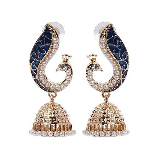 여성 여자에 대한 보헤미안 에스닉 스타일 인도 공작 펜던트 드롭 귀걸이 패션 빈티지 매력적인 우아한 스터드 귀걸이 보석 선물