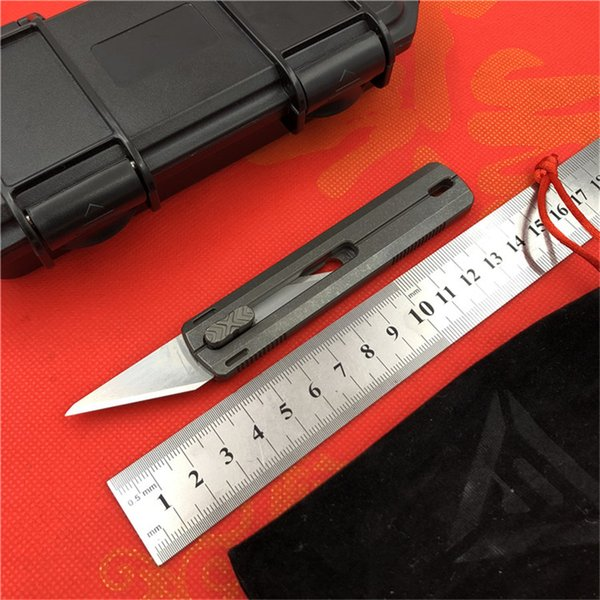 District 9 Original Paper cutter Cuttin knife Titanium Handle Olfa stainless steel blade Pruning outdoor camping knives