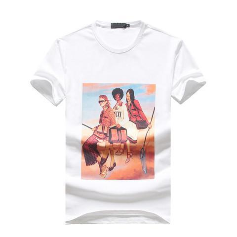 2019 Summer Fashion Brand Tag Short Sleeve Men's T-Shirts GG0026 Bees design Italy style cotton Man Clothing tshirt Tiger snake O-neck tees